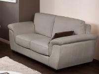 Ledersofa 2-Sitzer Salerne - Luxusleder - Grau