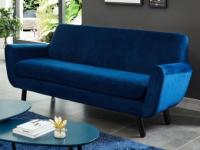 Sofa 3-Sitzer Samt Traviata - Blau