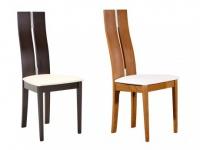 Stuhl 2er-Set Holz massiv Salena - Wengefarben