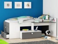 Kinderbett mit Stauraum SERAPHIN - 90x200cm