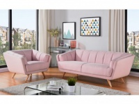 Couchgarnitur 3+1 Stoff MALENA - Rosa