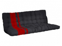 Futonmatratze für Hochbett Modulo und Modano - 135x190cm - Rot&Schwarz
