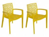 Gartensessel 2er-Set Diadem - Gelb