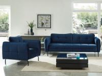 Couchgarnitur 3+1 Samt CLORIS - Blau