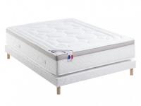 Visco-Taschenfederkernmatratze Lattenrost Set MARQUIS von DREAMEA - Weiß - 180x200cm