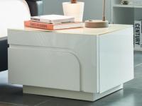 Nachttisch Design Hochglanz BEND - 1 Schublade