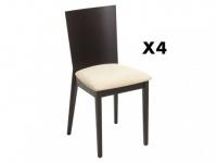 Stuhl 4er-Set Holz massiv Centauri