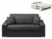 Schlafsofa 2-Sitzer Stoff EMIR - Anthrazit - Liegefläche: 120cm - Matratzenhöhe: 18cm