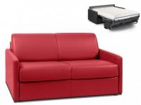 Schlafsofa 2-Sitzer CALIFE - Rot - Liegefläche: 120 cm - Matratzenhöhe: 18cm