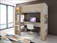 Hochbett mit Schreibtisch NOAH - 90x190cm