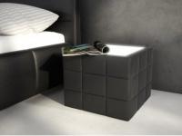 Tisch Sitzhocker LED Elyo - Schwarz