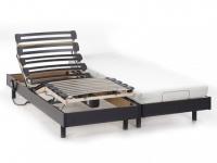 Relax-Kombination Viskoschaum NIGHT von DREAMEA - 2x80x200cm - schwarz