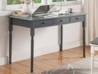 Schreibtisch Holz massiv mit Stauraum BABORD