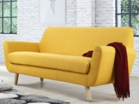 Sofa 3-Sitzer Stoff Traviata - Gelb