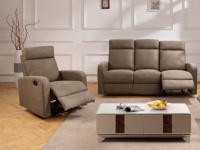 Couchgarnitur Relax Stoff 3+1 CARLINA - Taupe