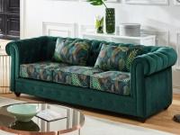 3-Sitzer-Sofa Chesterfield Samt EWA