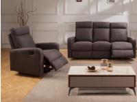 Couchgarnitur Relax Stoff 3+1 CARLINA - Braun
