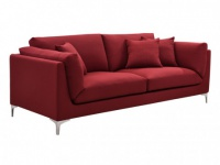 3-Sitzer-Sofa Stoff FLAKE - Rot