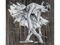 Kunstdruck Öl auf Leinwand Balletto - 100x100cm