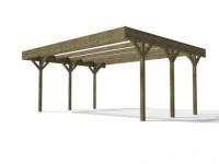 Carport Holz DAVOS - 30, 6 m²