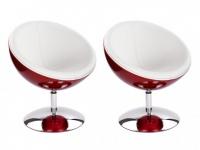 Lounge-Sessel 2er-Set Universe Rot
