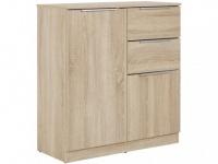 Highboard STUART - 2 Türen & 2 Schubladen - Eichefarben