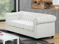 3-Sitzer CHESTERFIELD - Weiß