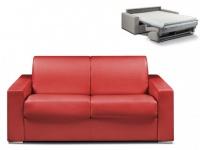 Schlafsofa 2-Sitzer CALITO - Rot - Liegefläche: 120 cm - Matratzenhöhe: 14cm