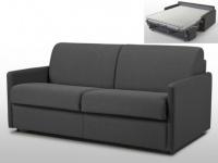 Schlafsofa 3-Sitzer Stoff mit Matratze Calife - Grau - Liegefläche: 140 cm
