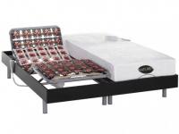 Matratzen elektrischer Lattenrost 2er-Set mit Okin-Motor Lysis III - 2x100x200cm - Schwarz