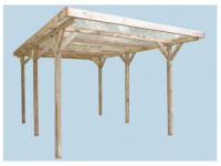 Carport Flachdach Holz Atlas - 304x512cm (15, 56m²)
