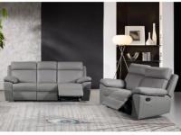 Couchgarnitur 3+2 Relax WIGAN - Grau