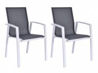 Gartensessel 2er-Set Aluminium Textilene MAHINA