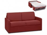 Schlafsofa 2-Sitzer Stoff CALIFE - Rot - Liegefläche: 120 cm - Matratzenhöhe: 14cm