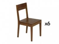 Stuhl 6er-Set Holz massiv TUSTY