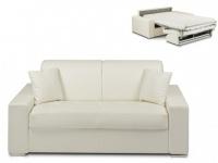 Schlafsofa 2-Sitzer EMIR - Weiß - Liegefläche: 120cm - Matratzenhöhe: 14cm