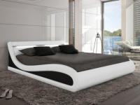 Polsterbett LED Zalaris - 160x200 cm - Weiß