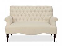 2-Sitzer-Sofa Stoff Barock Manifia - Beige