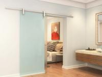 Glasschiebetür Sicherheitsglas CLEAVER - H 205 x B 73 cm