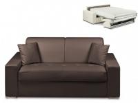 Schlafsofa 2-Sitzer EMIR - Braun - Liegefläche: 120cm - Matratzenhöhe: 22cm