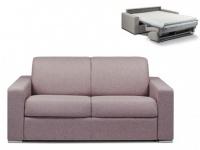 Schlafsofa 2-Sitzer Stoff CALITO - Blassviolett - Liegefläche: 120 cm - Matratzenhöhe: 14cm