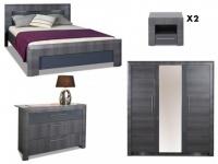 Sparset Schlafzimmer Britany: Bett 160x200 (4 tlg.)