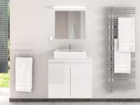 Komplettbad mit Einzelwaschbecken LAVITA II - Weiß