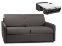 Schlafsofa 3-Sitzer mit Matratze Calife - Grau - Liegefläche: 140 cm