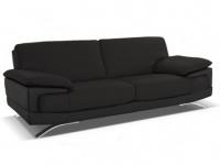 Ledersofa 3-Sitzer Emotion - Luxusleder - Schwarz