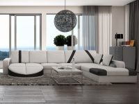 XXL Wohnlandschaft Design Mintika - Weiß