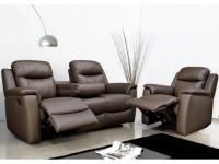Ledergarnitur Relax Evasion 3+1 - Braun