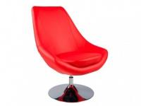 Lounge-Sessel Eliope - Drehbar - Rot