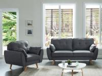 Couchgarnitur Stoff 3+1 MELINA