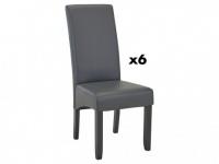 Stuhl 6er-Set ROVIGO - Grau